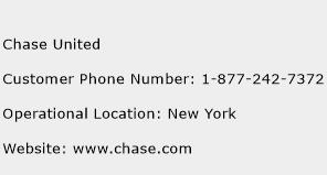 Chase United Phone Number Customer Service
