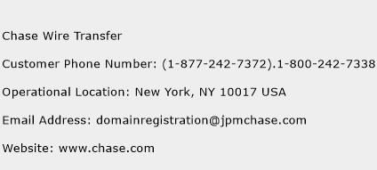 Chase Wire Transfer Phone Number Customer Service
