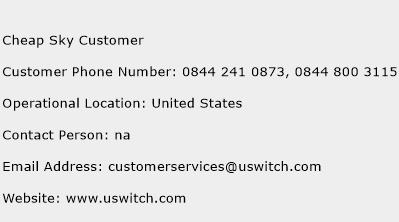 Cheap Sky Customer Phone Number Customer Service