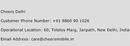Cheers Delhi Phone Number Customer Service