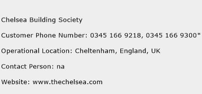 Chelsea Building Society Phone Number Customer Service