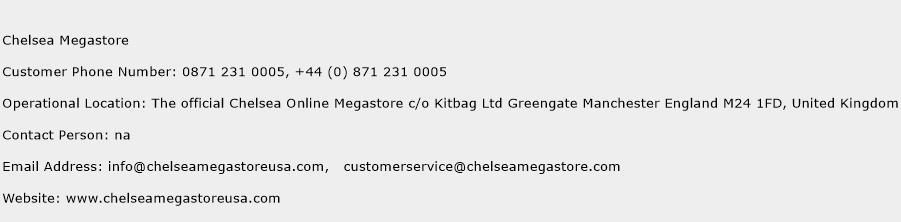 Chelsea Megastore Phone Number Customer Service