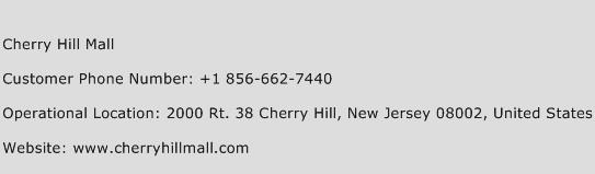 Cherry Hill Mall Phone Number Customer Service