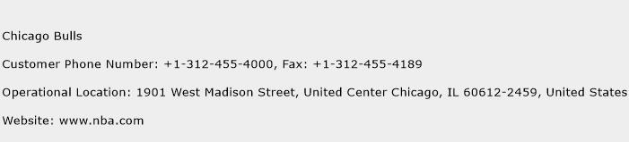Chicago Bulls Phone Number Customer Service