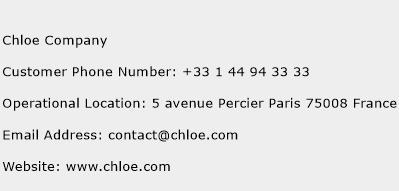 Chloe Company Phone Number Customer Service