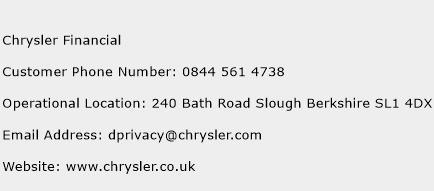 Chrysler Financial Phone Number Customer Service