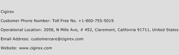 Cigirex Phone Number Customer Service