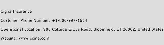 Cigna Insurance Phone Number Customer Service