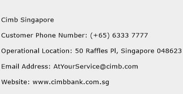 Cimb Singapore Phone Number Customer Service