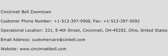 Cincinnati Bell Zoomtown Phone Number Customer Service