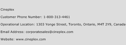Cineplex Phone Number Customer Service