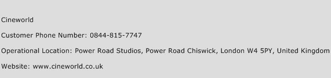 Cineworld Phone Number Customer Service