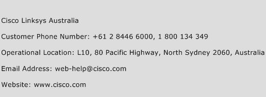 Cisco Linksys Australia Phone Number Customer Service