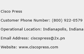 Cisco Press Phone Number Customer Service