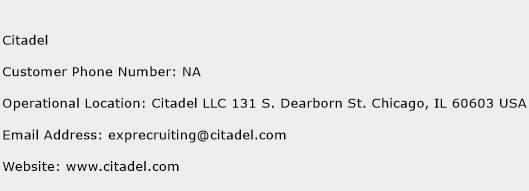 Citadel Phone Number Customer Service