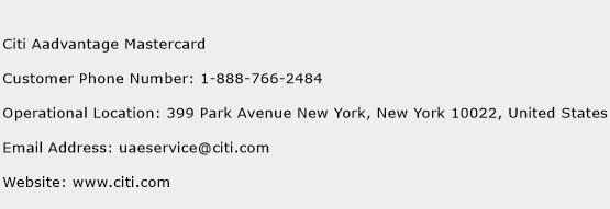 Citi Aadvantage Mastercard Phone Number Customer Service