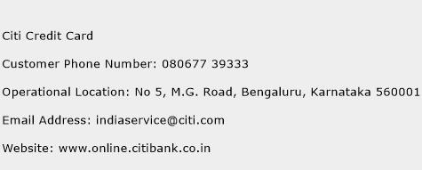 Citi Credit Card Phone Number Customer Service
