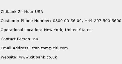Citibank 24 Hour USA Phone Number Customer Service