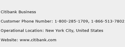 Citibank Business Phone Number Customer Service