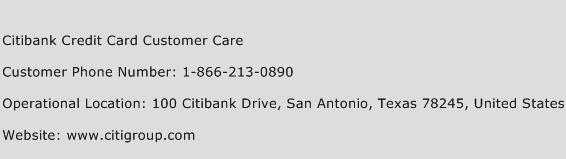 Citibank Credit Card Customer Care Phone Number Customer Service