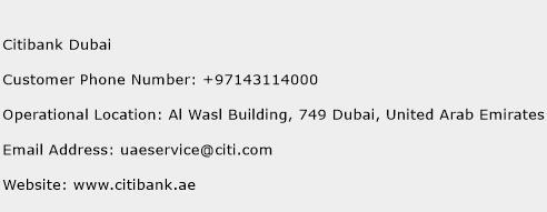 Citibank Dubai Phone Number Customer Service