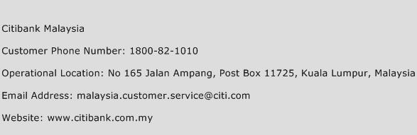 citibank customer service number