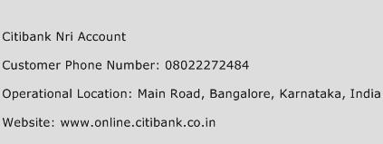 Citibank Nri Account Phone Number Customer Service