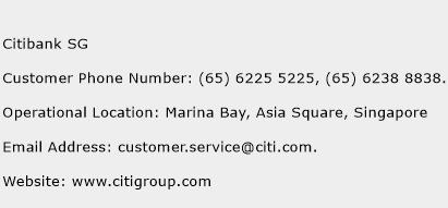 Citibank SG Phone Number Customer Service