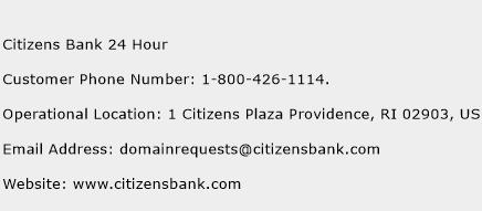 Citizens Bank 24 Hour Phone Number Customer Service