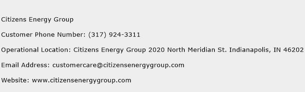 Citizens Energy Group Phone Number Customer Service
