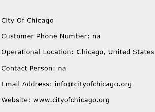 City Of Chicago Phone Number Customer Service