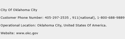 City Of Oklahoma City Phone Number Customer Service