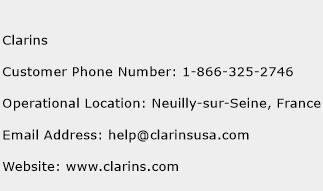 Clarins Phone Number Customer Service