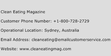 Clean Eating Magazine Phone Number Customer Service