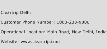 Cleartrip Delhi Phone Number Customer Service