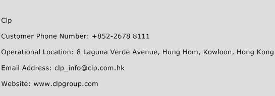 Clp Phone Number Customer Service