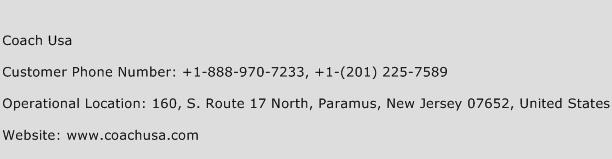 Coach Usa Phone Number Customer Service