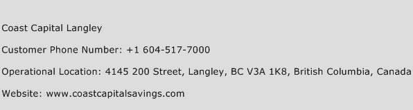 Coast Capital Langley Phone Number Customer Service