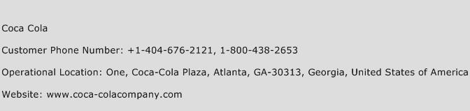 Coca Cola Phone Number Customer Service