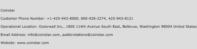 Coinstar Phone Number Customer Service