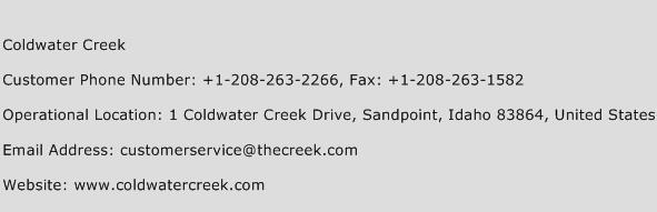 Coldwater Creek Phone Number Customer Service