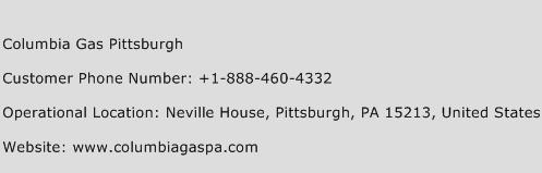 Columbia Gas Pittsburgh Phone Number Customer Service