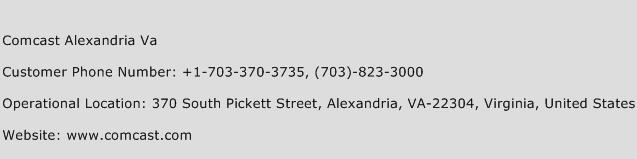 Comcast Alexandria Va Phone Number Customer Service