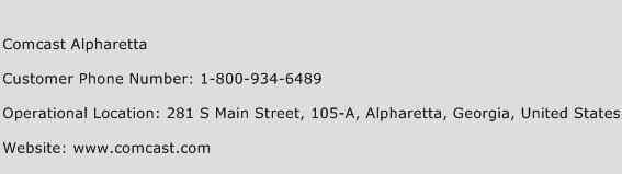 Comcast Alpharetta Phone Number Customer Service