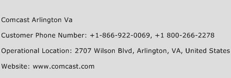 Comcast Arlington Va Phone Number Customer Service
