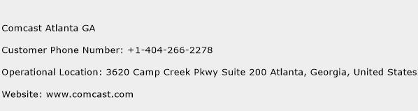 Comcast Atlanta GA Phone Number Customer Service