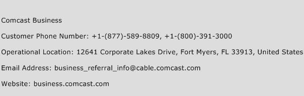 Comcast Business Phone Number Customer Service