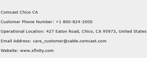 Comcast Chico CA Phone Number Customer Service
