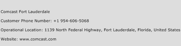 Comcast Fort Lauderdale Phone Number Customer Service