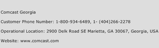 Comcast Georgia Phone Number Customer Service